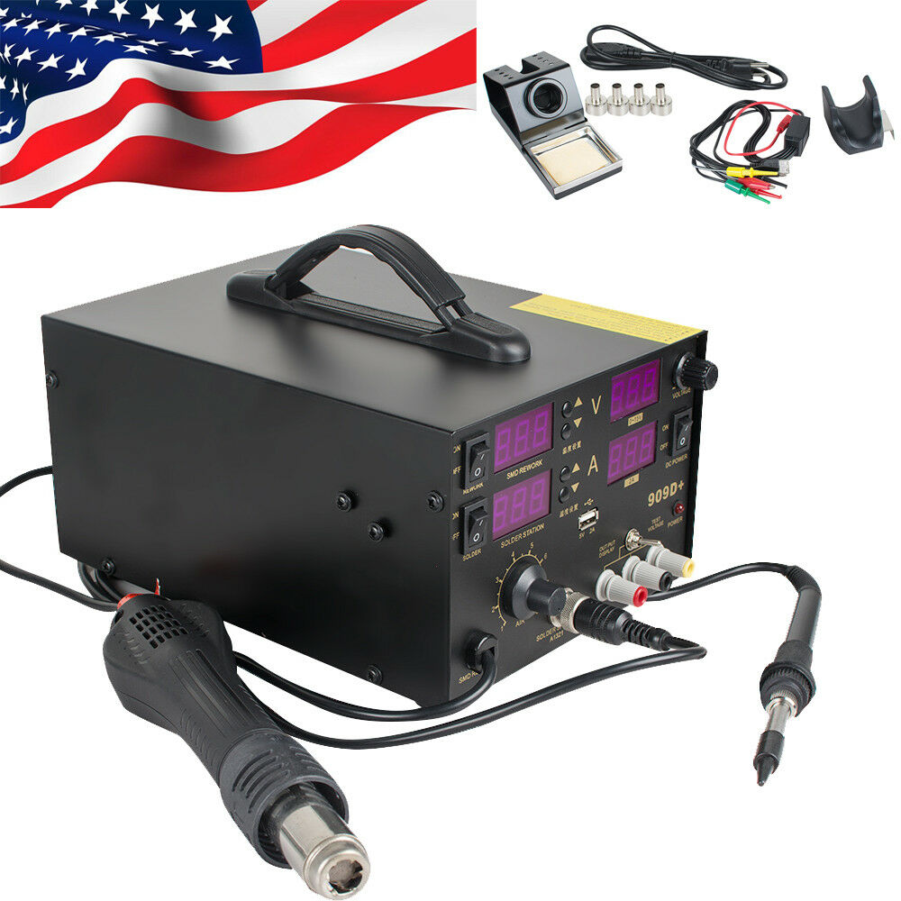 Professional 4 In1 909d Rework Soldering Station Power Supply Hot ...