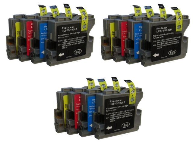 12 Ink Cartridges for Brother MFC5460CN MFC3360C, MFC5860CN FAX2480C DCP350C