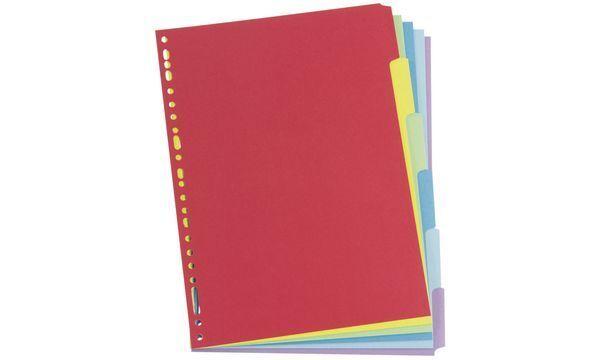 ELBA Karton Register Farbregister, blanko DIN A4 farbig 12-teilig Ordnerregister