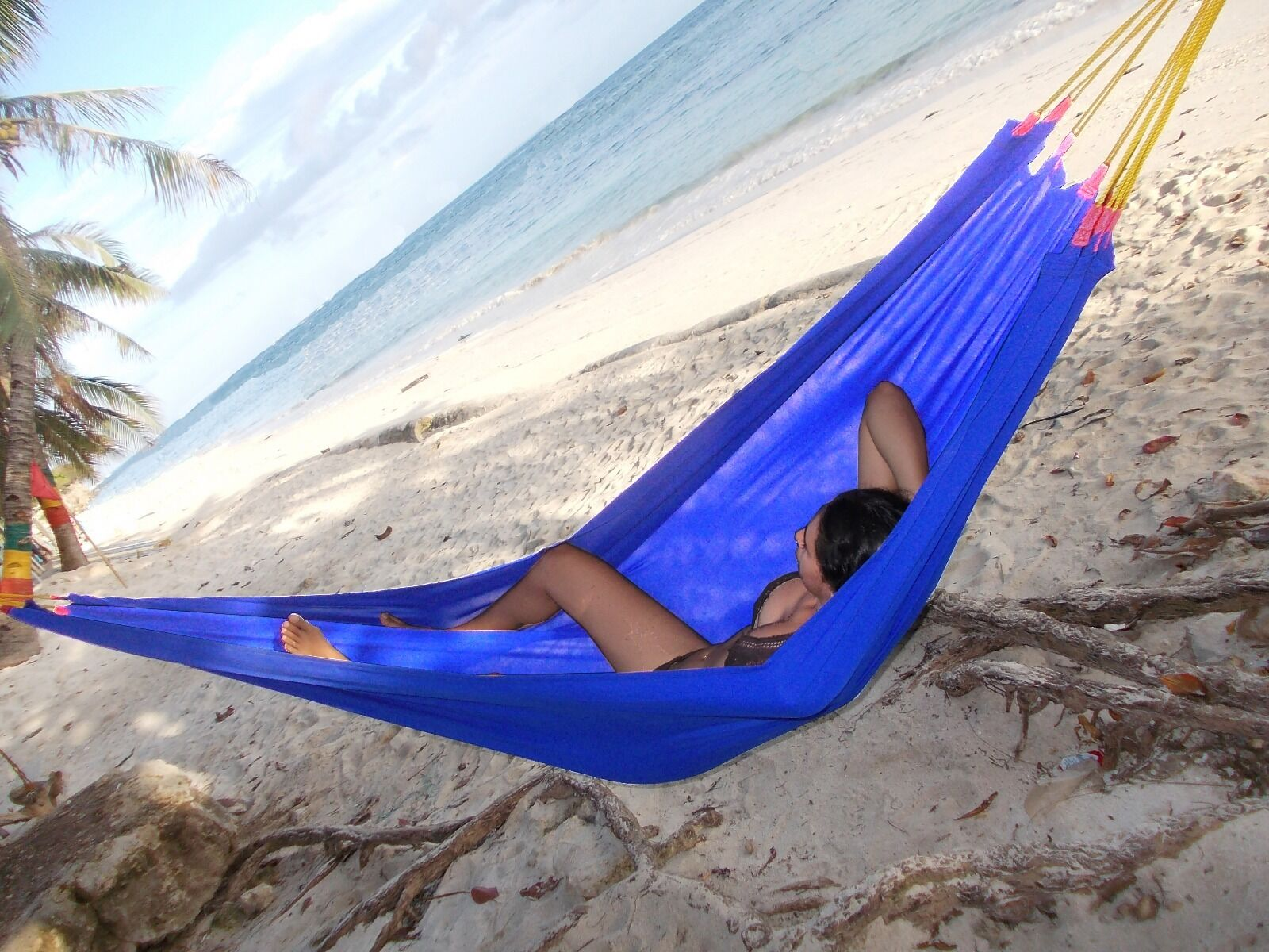 picture 1 of 12     handmade hammocks custom made to order by margoa  double colorful      rh   ebay