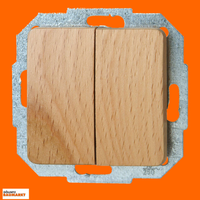 Kopp Serienschalter Milano Echtholz Ausschalter Schalter Holz Unterputz Buche