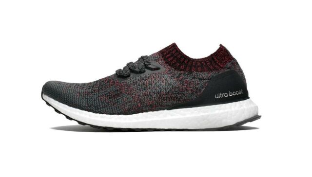 Adidas Ultra Boost Uncaged Mens DA9163 Carbon Primeknit Running Shoes Size 10.5