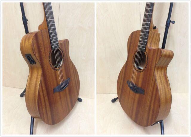 """Caraya 40"""" All Mahogany Thin-body Acoustic Guitar,Cutaway w/Built-in EQ+Free Bag"""