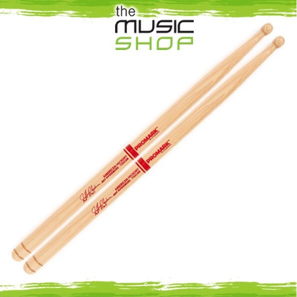 Set Promark American Hickory Jeff Ausdemore Marching Drumsticks w Wood Tips