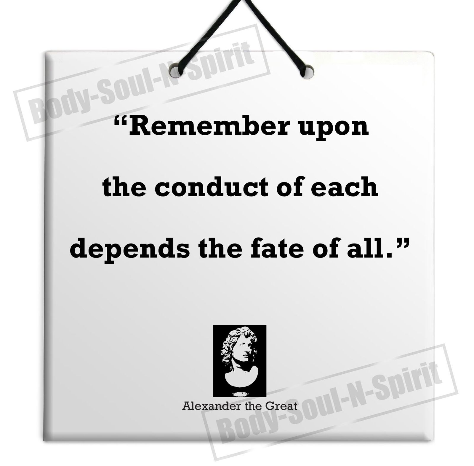 Alexander The Great Quote Ceramic Wall Hanging Plaque Tile Home ...