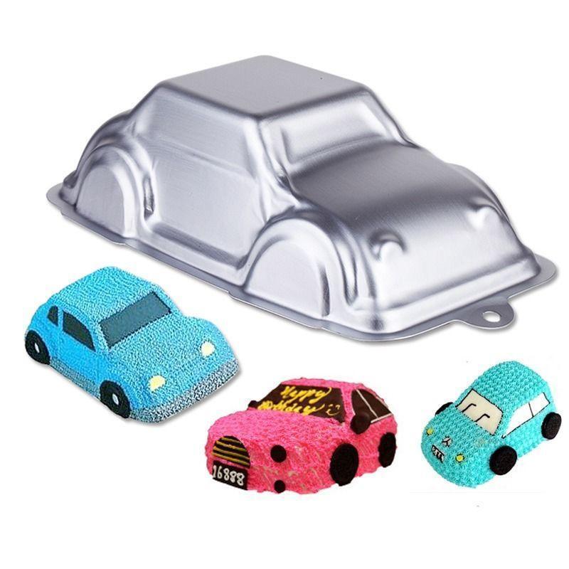 3d Car Shape Tins Pan Aluminum Baking Bakeware Child Birthday Cake