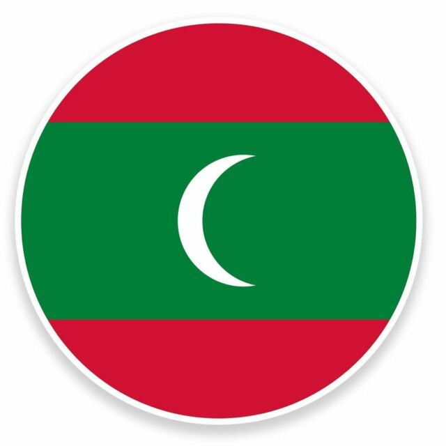 2 x maldives flag vinyl sticker travel car luggage 9107