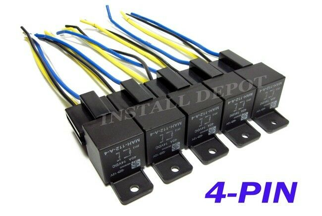 s l1600 10 pair 12v automotive relays & wire harness 4 pin spst 40 amp 10 pin wire harness at sewacar.co