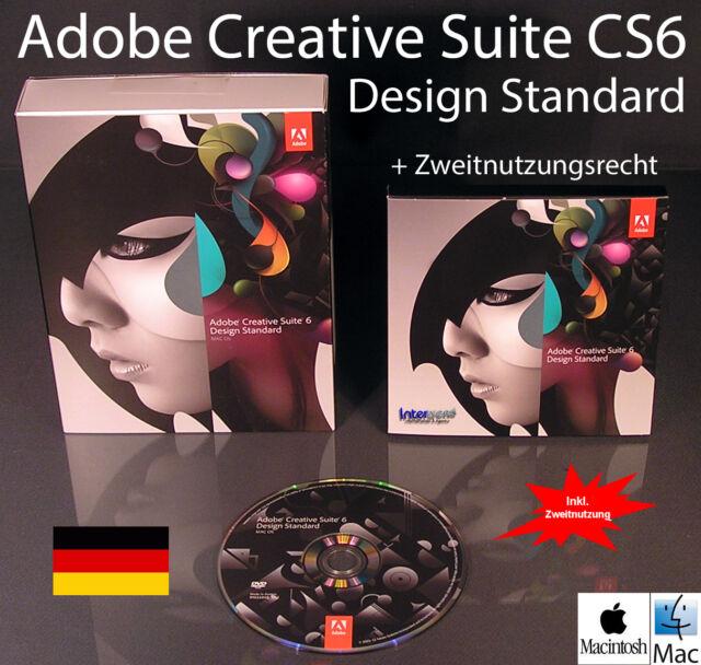 Adobe Creative Suite 6 Design Standard (1 User) - Upgradeversion ...