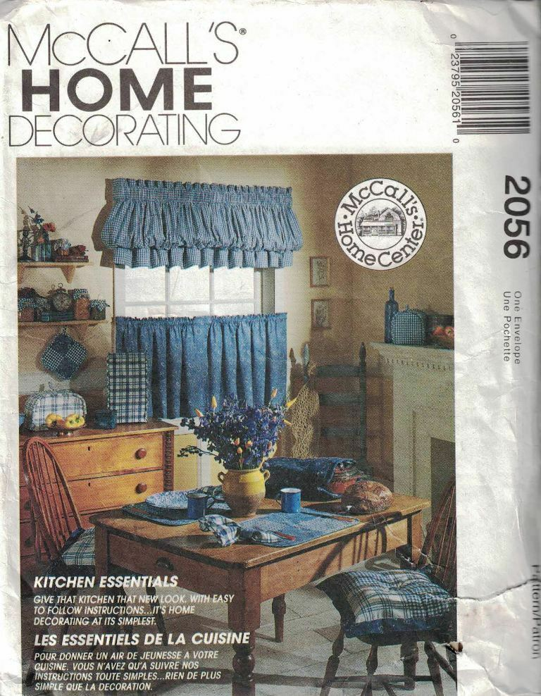 Mccall\'s Home Decorating 2056 Uncut Sewing Pattern Kitchen ...