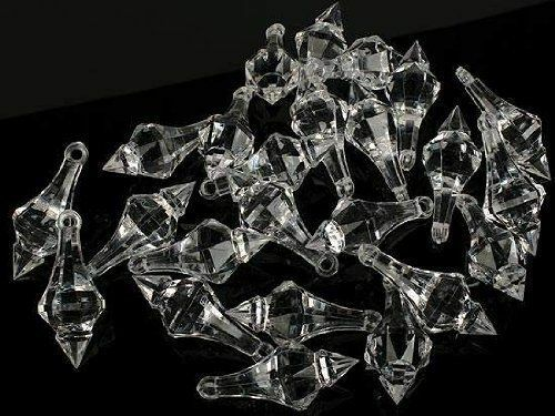 100 clear crystal chandelier drops hanging acrylic gems chandeliers 100 clear crystal chandelier drops hanging acrylic gems chandeliers parts new audiocablefo