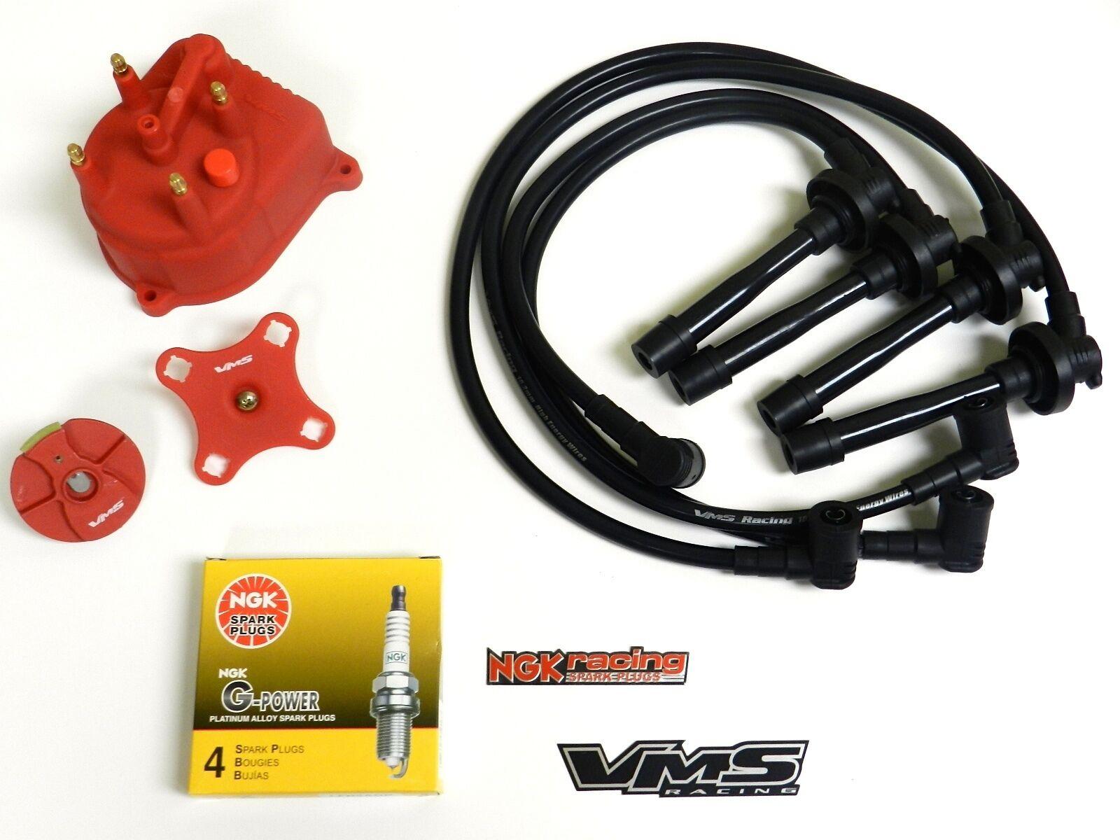 Distributor Cap Rotor Spark Plug Wire Kit for 92-01 Honda Prelude ...