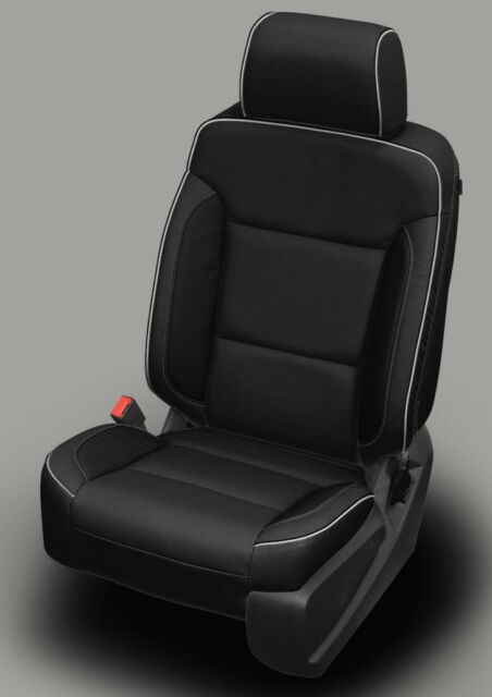 2017 2018 GMC Sierra SLE Crew CAB Custom Black Katzkin Leather Seat ...