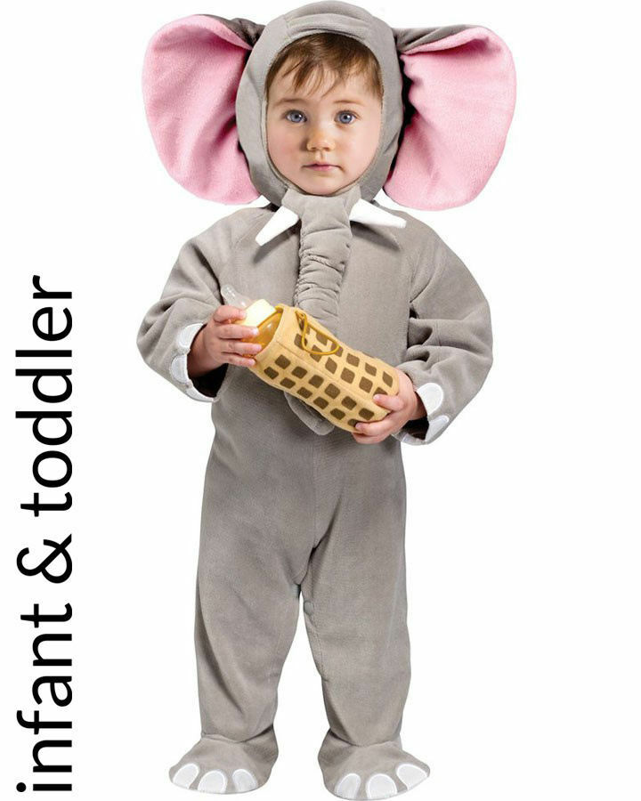 Picture 1 of 1  sc 1 st  eBay & Infant Lil Elephant Halloween Costume 6-12 Months Baby Jumpsuit ...