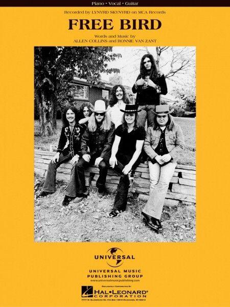 Bird Song By Lynyrd Skynyrd Rock Piano Sheet Music Guitar Chords