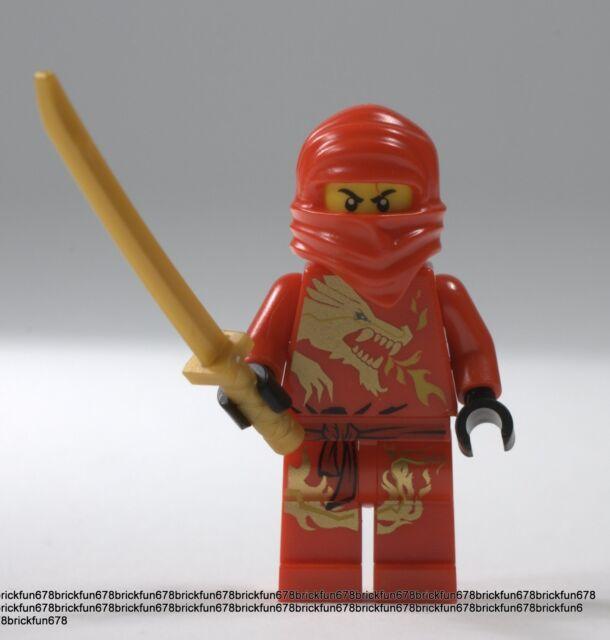 Lego Ninjago Red Ninja Kai DX Dragon Minifigure W/ninja Sword 2518 ...