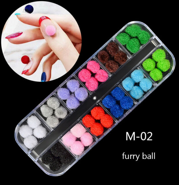 3d Nail Art Rhinestones Glitter Metal Acrylic Sequins Decoration ...