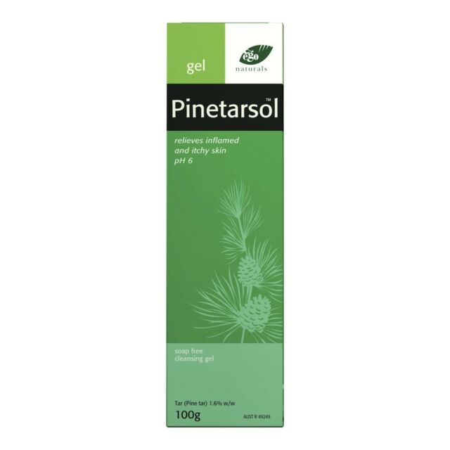 EGO PINETARSOL GEL 100G TUBE SOAP FREE CLEANSING GEL ITCHY INFLAMED SKIN RELIEF