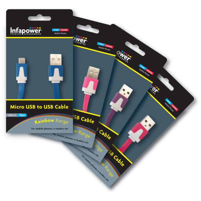 INFAPOWER MICRO USB - USB CHARGING CABLE FOR ANDROID BLACKBERRY & WINDOWS PHONES