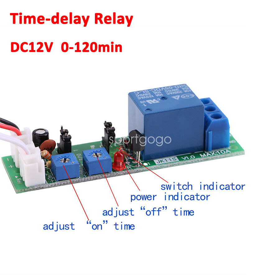 Time Delay Relay Wiring Diagram Trigger Electrical Diagrams Touch On Off Switch Circuit Tradeoficcom 5 12 24 110 220v Turn Board Timing Timer Thermal Overload