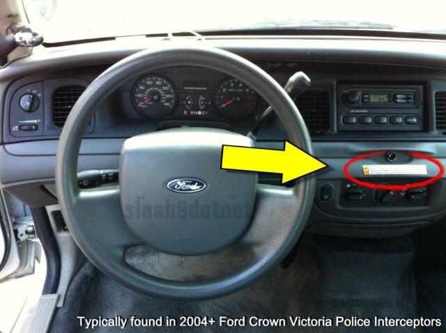 P Crown Vic Police Interceptor Equipment Warning Decal Sticker Ford Cvpi