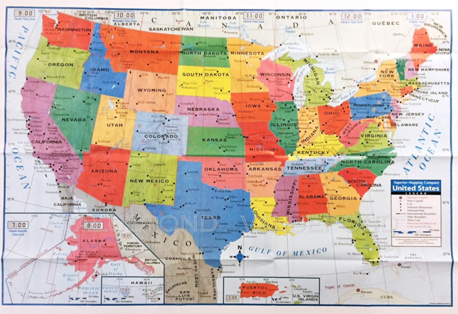USA Map Posters Prints EBay - Usa large wall map