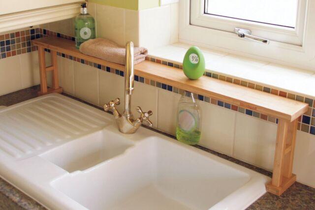 Kitchen Over Sink Shelf Rack Bathroom Storage Unit Waterproof ...
