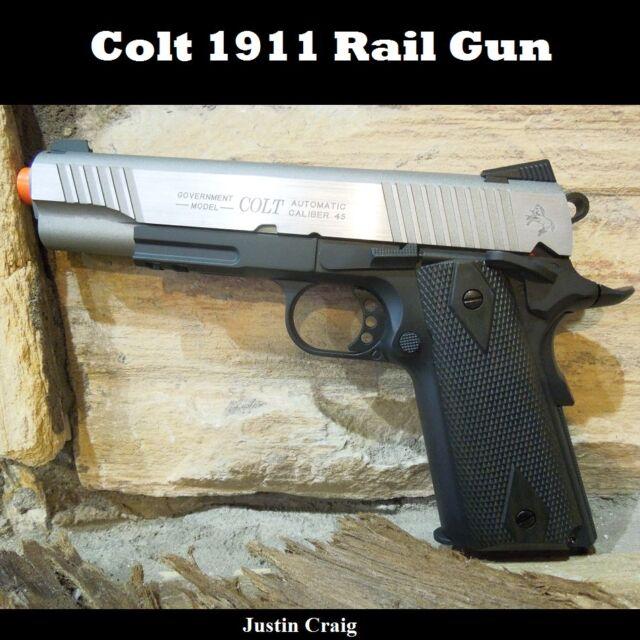 Colt 1911 Co2 Full Metal Blowback Airsoft Rail Gun Pistol Stainless. | eBay