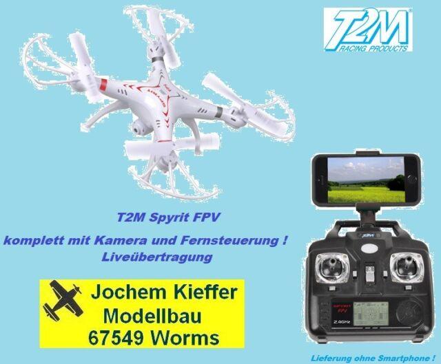 T2M Spyrit FPV Quadrokopter Drohne mit RC, Kamera, Akku - Livestream NEU OVP !