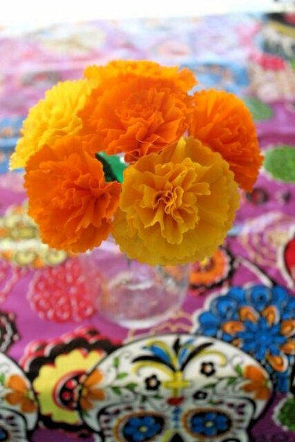 Mexican crepe paper flowers bouquet of 6 crafts party by julia mexican crepe paper flowers bouquet of 6 crafts party by julia yellow orange mightylinksfo