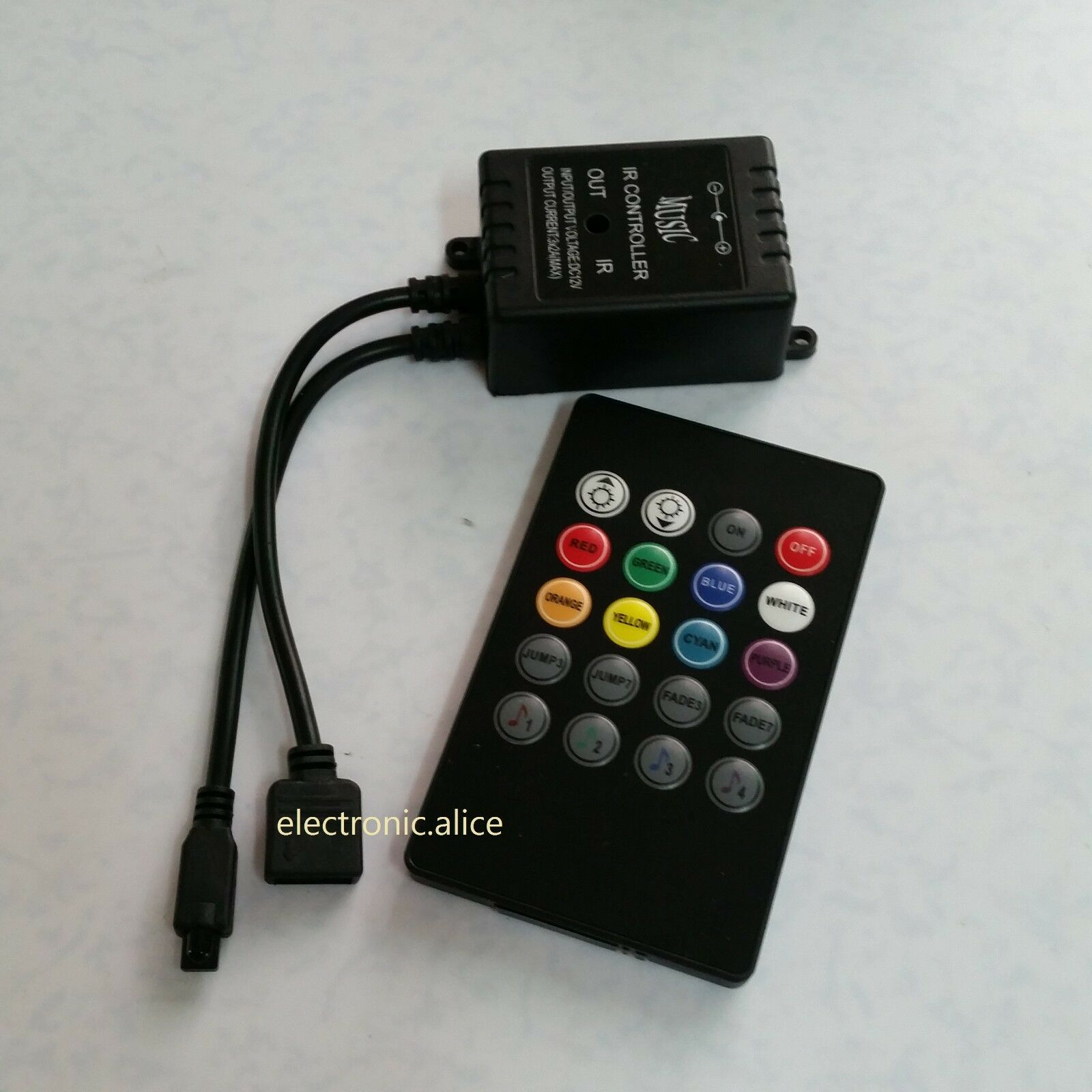 20 key ir sound sensor music remote controller for 3528 5050 rgb picture 1 of 4 mozeypictures Image collections