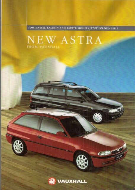 Vauxhall Astra Hatchback Saloon & Estate 1994-95 UK Market Sales Brochure