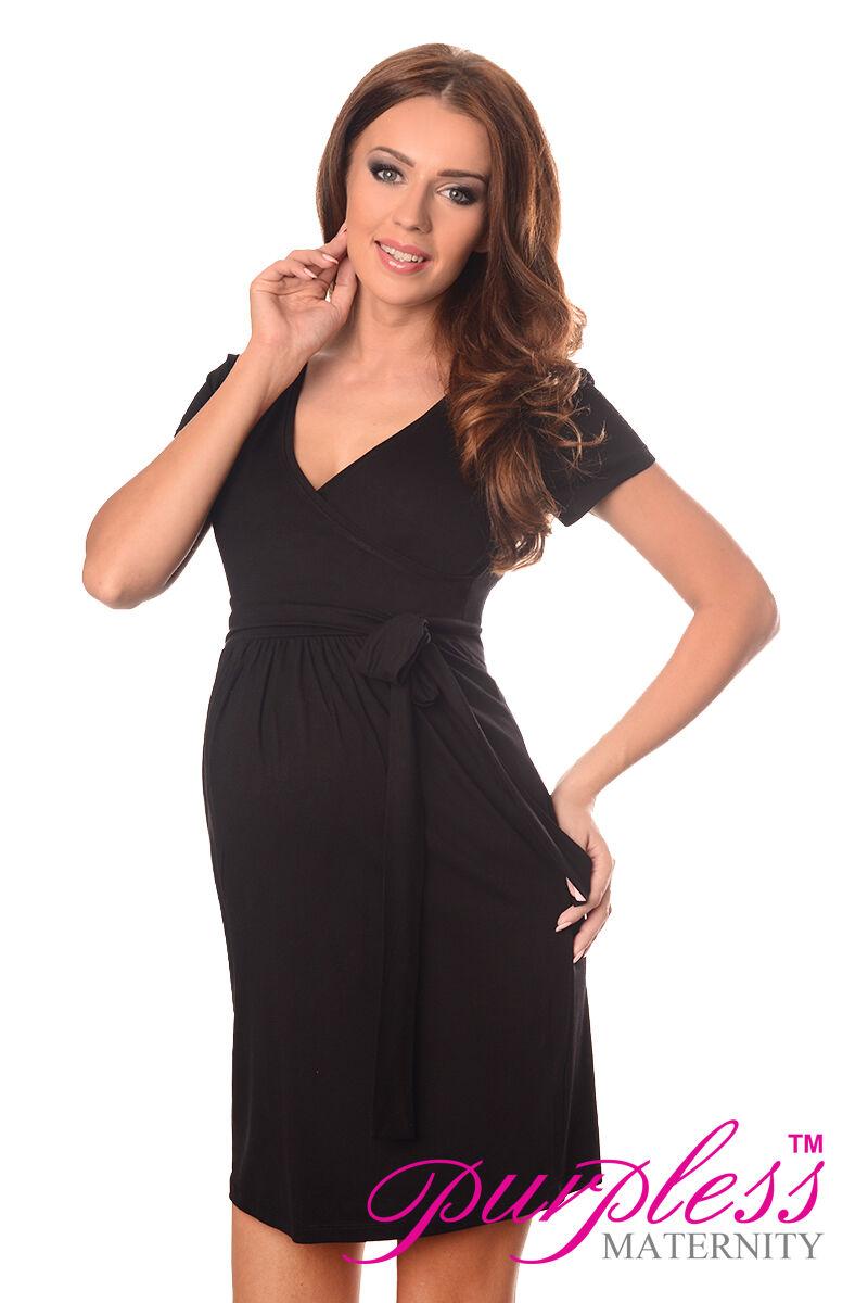 Maternity Cocktail Dress V-neck Pregnancy Clothing Wear Size 8 10 12 ...
