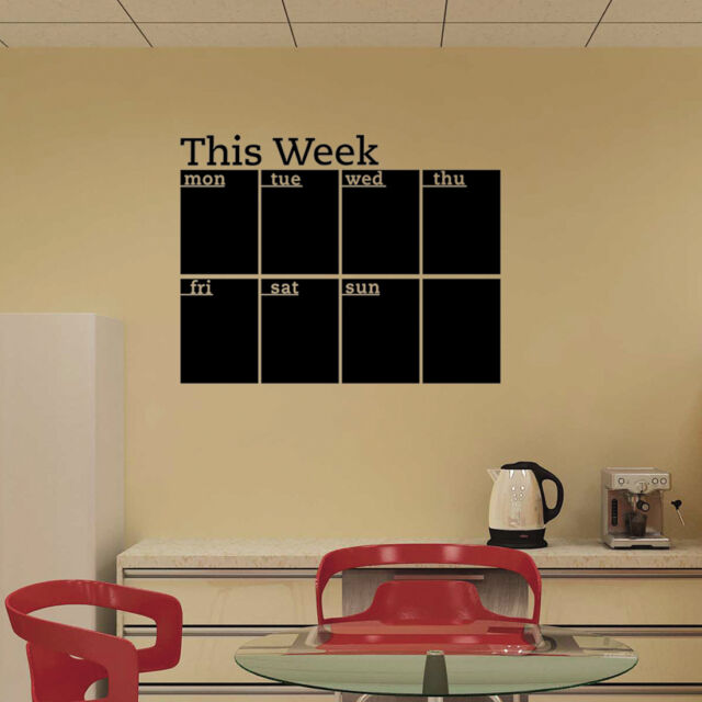 Calendar Wall Stickers 7 Decals Home Office College Dorm Dry Erase ...