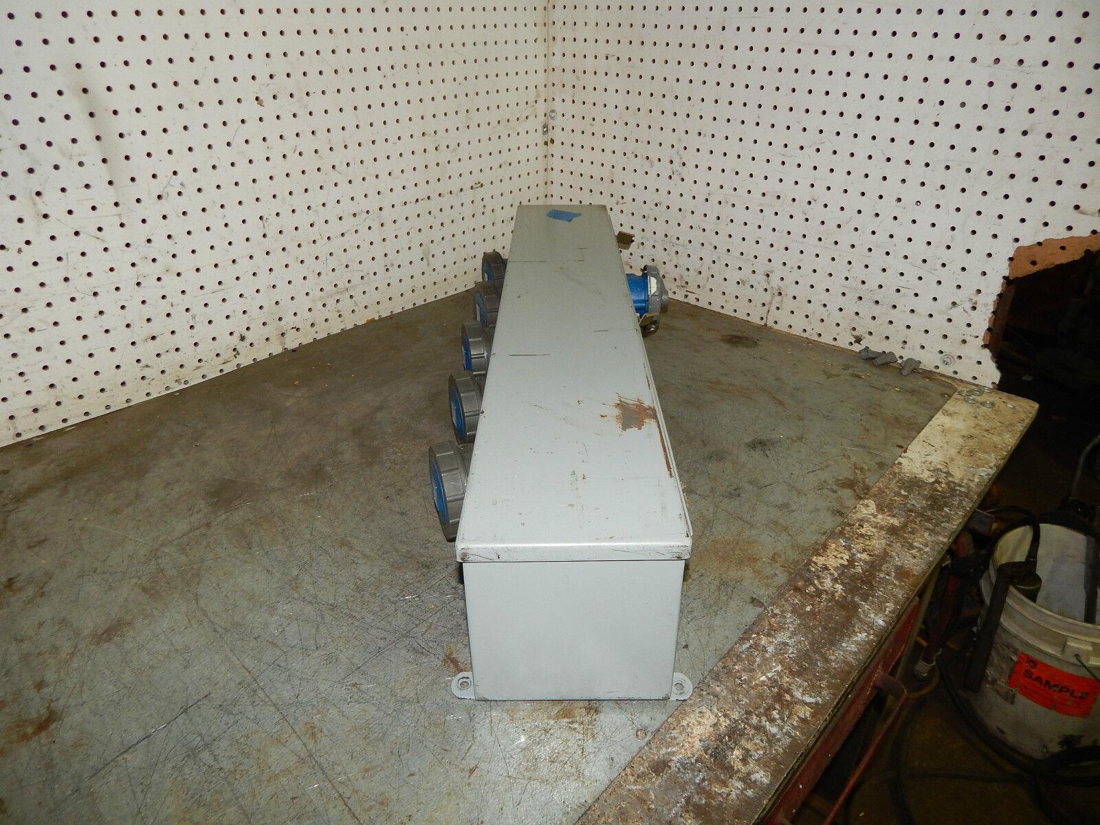 Hoffman F66T36HC Hinged Cover Wiring Trough 6inwx6inh | eBay