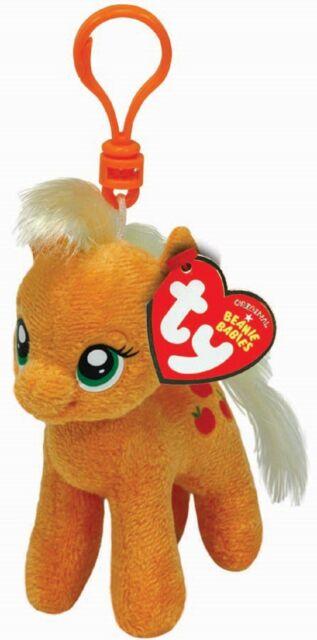 Ty Beanie Babies 41101 My Little Pony Applejack Horse Key Clip