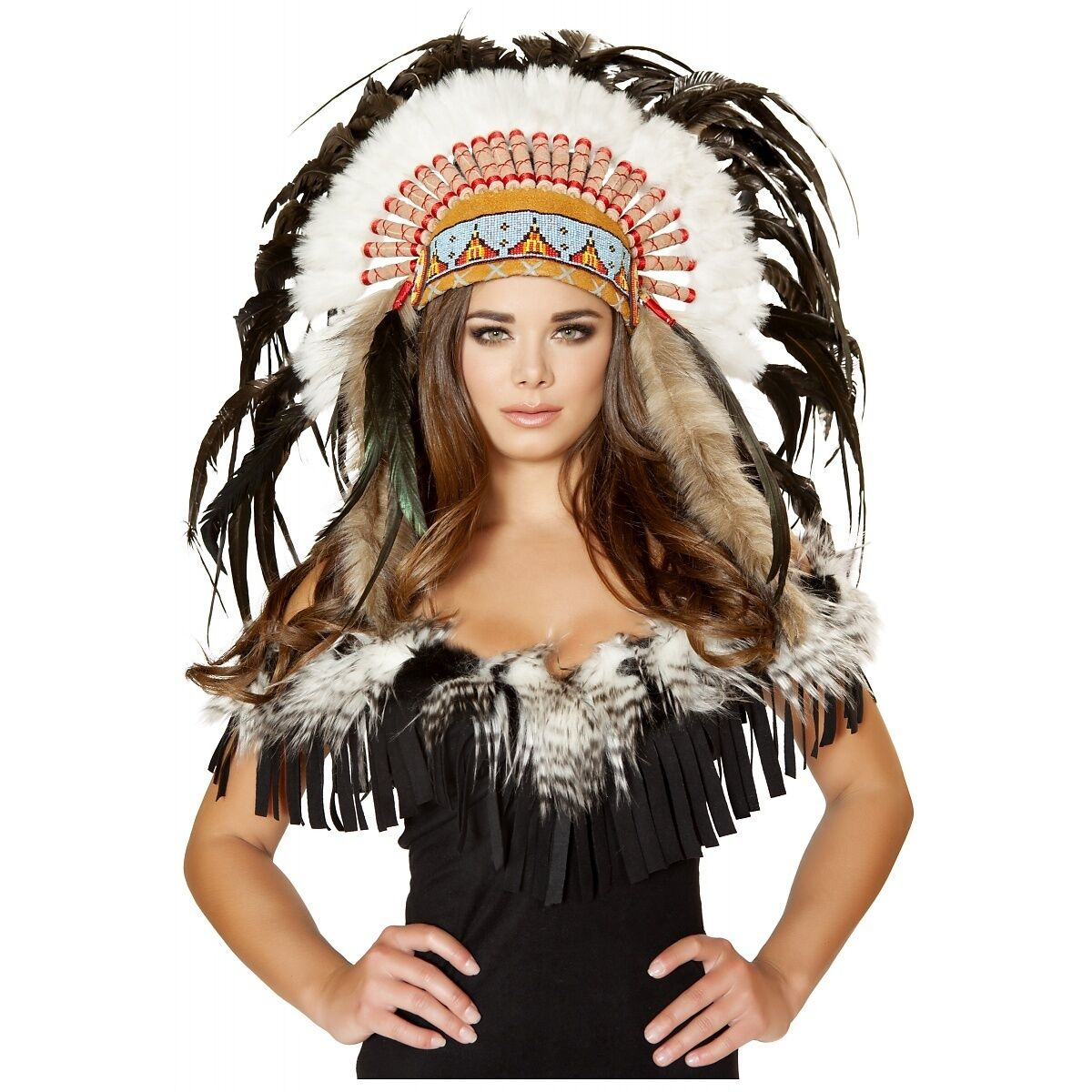 Picture 1 of 1  sc 1 st  eBay & Roma Costume USA H4471 Native American Headdress as SHOWN | eBay