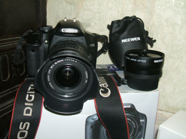 Canon EOS 450D / 12.2 MP Digital SLR Camera -/with THREE LENSES  EF-S..18-55mm.