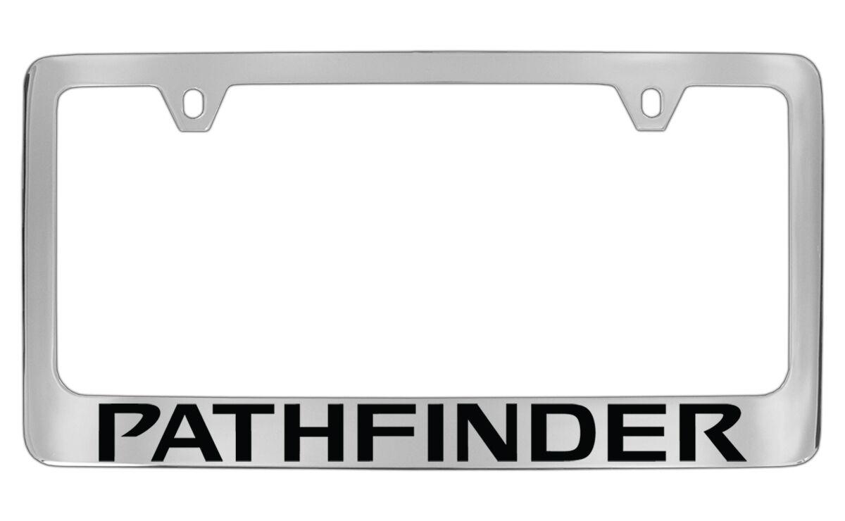 Nissan Pathfinder Chrome Plated Metal License Plate Frame Holder | eBay