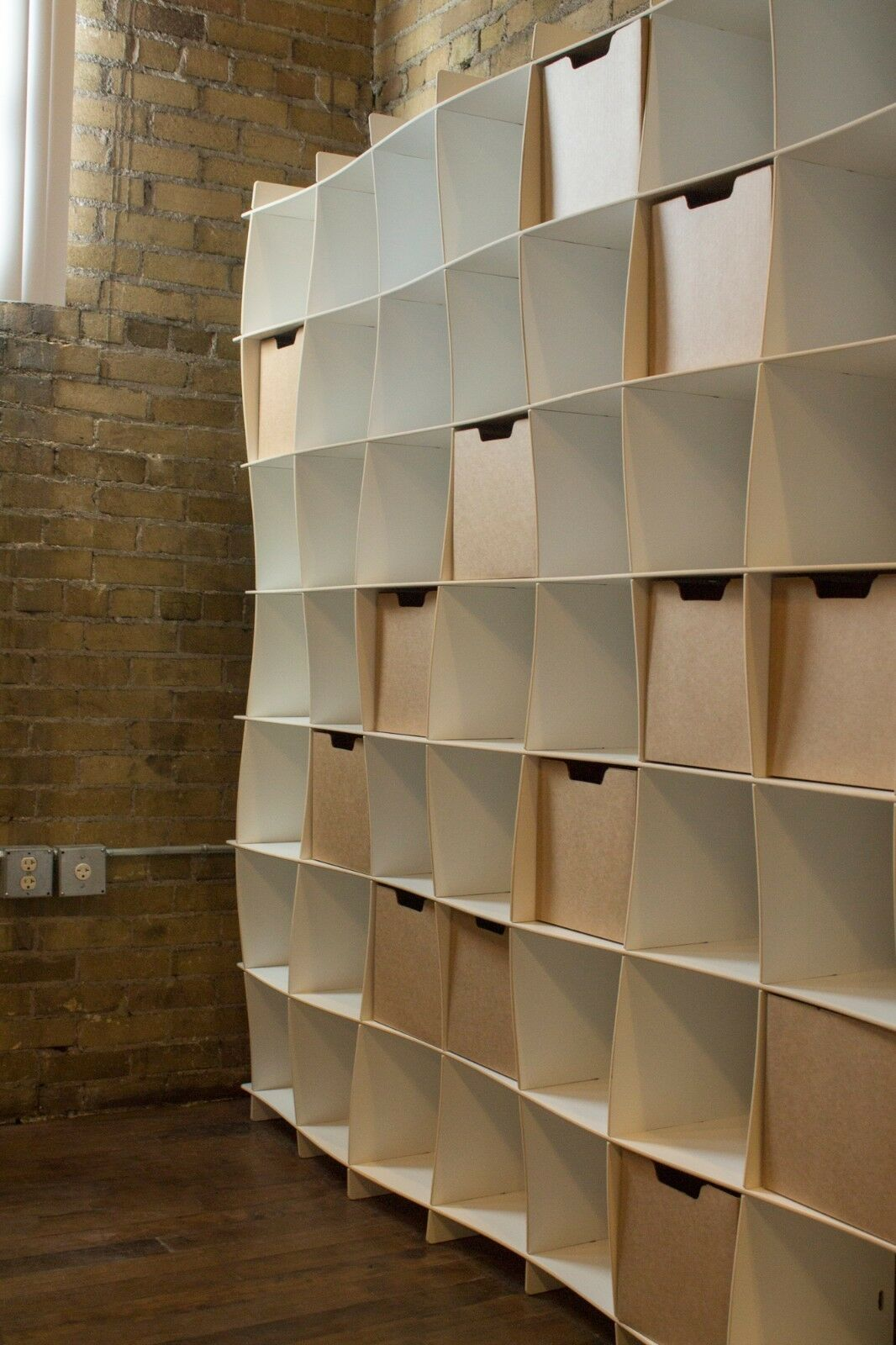 mid century modern bookcase by sprout cube storage number of shelves 49 white wave ebay
