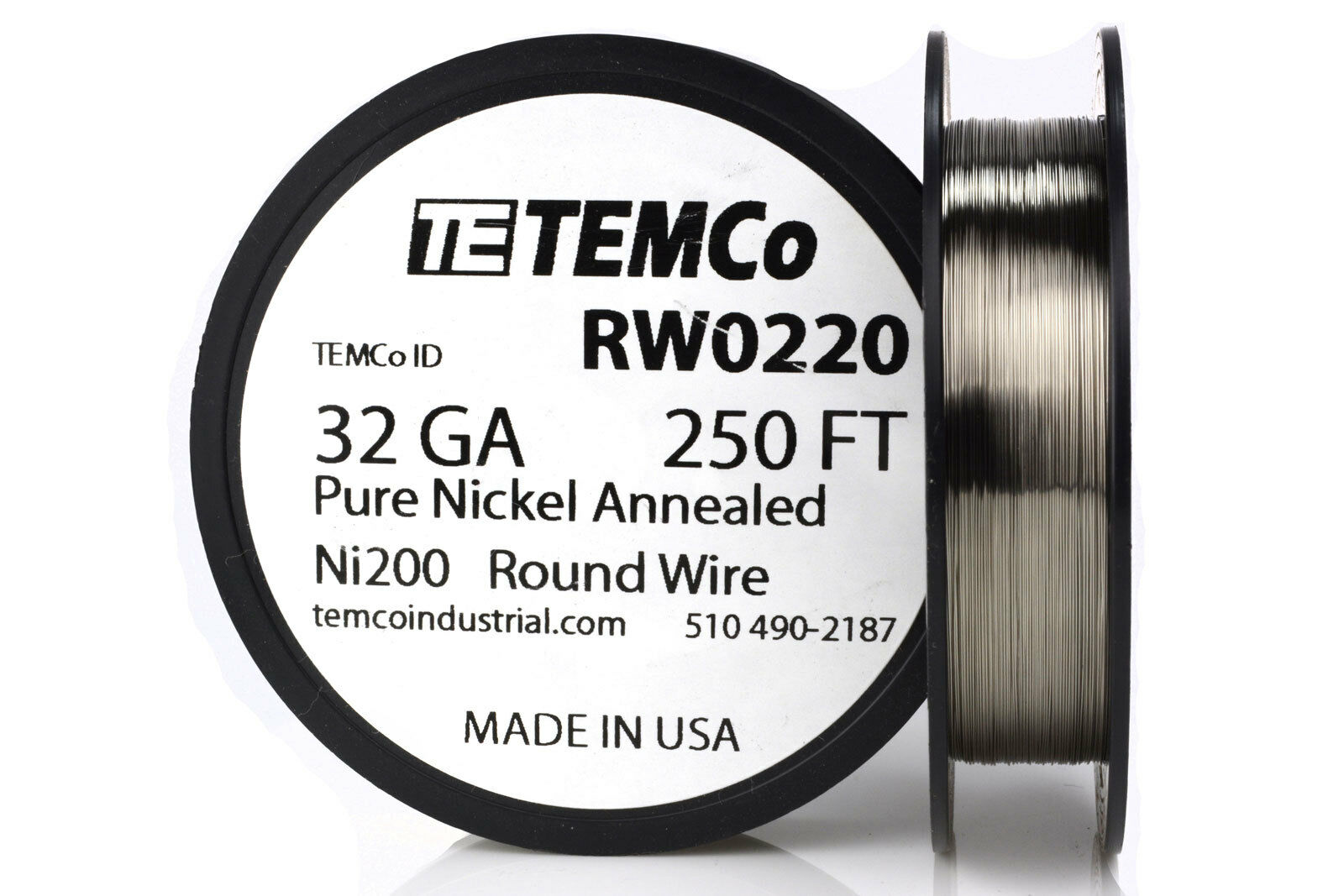 Temco Pure Nickel Wire 32 Gauge 250 FT Non Resistance AWG Ni200 ...