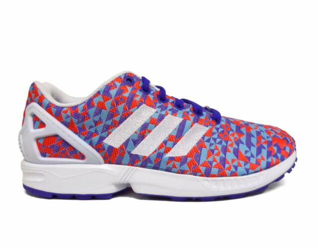Adidas Men's ZX FLUX WEAVE Shoes Night Flash/White B34473 a1