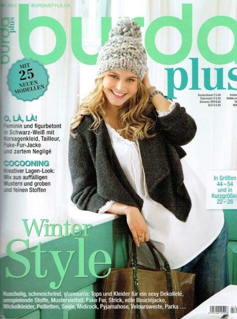 burda plus H/W 2012 E 30 WINTER STYLE  - siehe Bilder