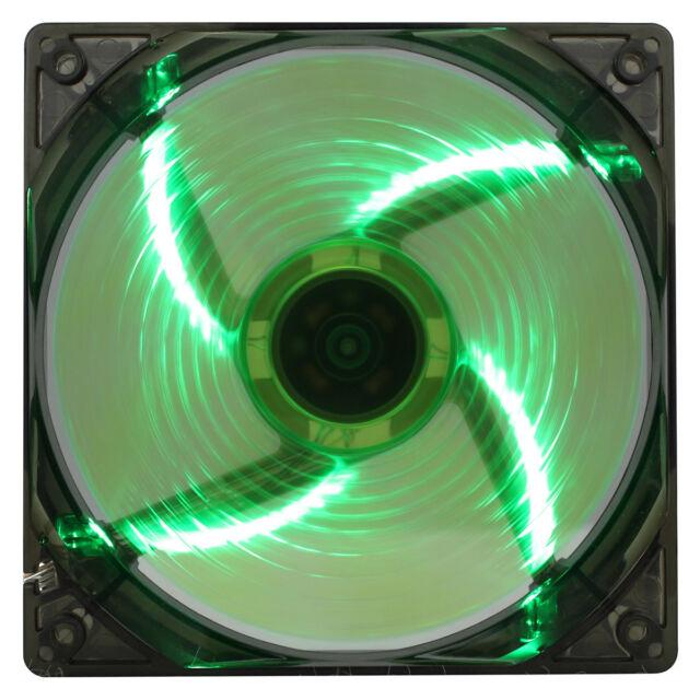 Game Max Windforce 4 x Green LED 12CM PC Cooling Fan 3-pin & 4-Pin Molex 120mm