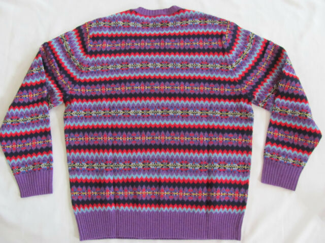Bonobos Thacher Fairisle Crewneck Lambswool Sweater Sz.xl | eBay