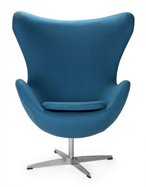 Armchair Blue Egg Chair Arne Jacobsen Cashmere Aluminum Revolving Blue