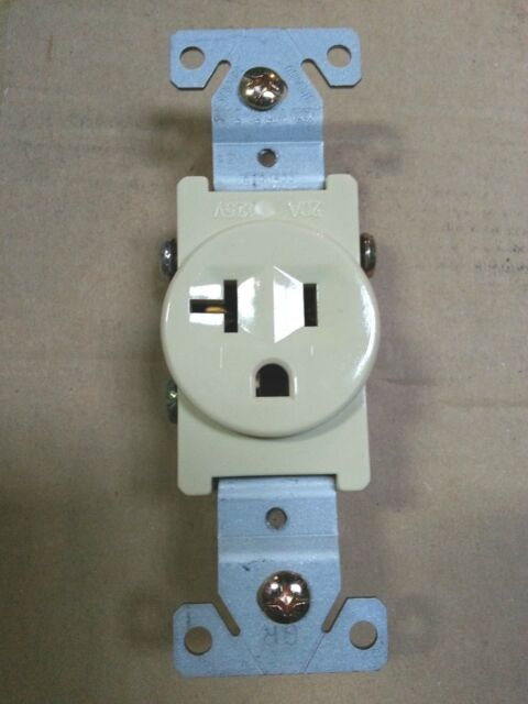 10 Pc) Single Receptacle 20 Amp 20a 125v AC Outlet 2 Pole 3 Wire ...