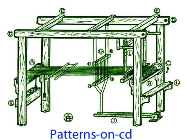 1900s How to Build Floor Loom Plans & Hand Weaving   eBay