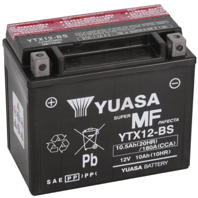 AGM Motorradbatterie Yuasa YTX12-BS Honda CN250 Helix MF02 Bj. 1988