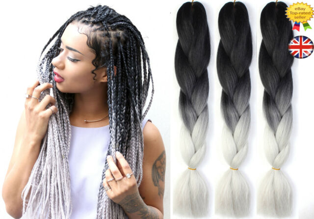 24 ombre two tone dip dye synthetic braiding hair extensions 24 ombre two tone dip dye synthetic braiding hair extensions black light grey pmusecretfo Images